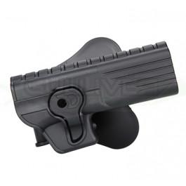 Holster noir rigide pour Glock 34