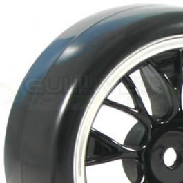 Fastrax roues montées collées piste/drift jante YSP noir et chrome