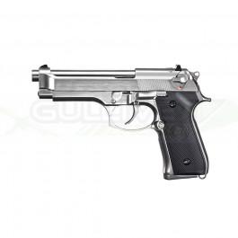 Réplique de poing GBB M92 silver full métal gaz