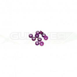 Ecrous épaulé 3mm Violet (x10)