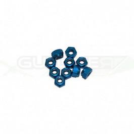 Ecrous 4mm Bleu (x10)