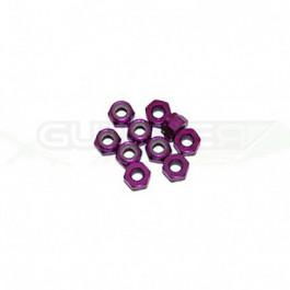 Ecrous 4mm Violet (x10)