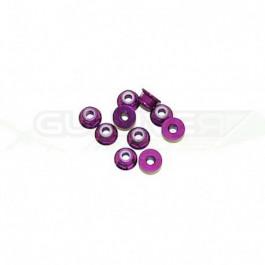 Ecrous épaulé 4mm Violet (x10)