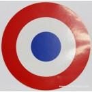 Cocarde autocollante Bleu Blanc Rouge 120mm