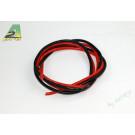 Cable silicone awg8 6.03mm2 1m de rouge et 1m de noir