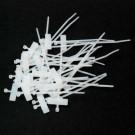 Colliers de serrage en plastique blanc avec zone de marquage 10cm par 20