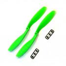 Hélice Gemfan SF 8x4,5 CCW vert (2 pcs)