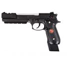 Réplique de poing M92 Biohazard avec compensateur Black full metal