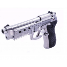 Réplique de poing GBB M92 Hex cut silver gaz full metal