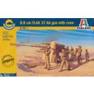 Canon FLAK 37 avec troupes