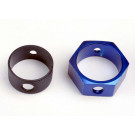 Adaptateur de frein + hexagone alu bleu