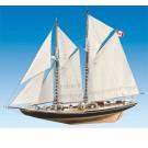Maquette bois bateau Bluenose 1/65