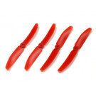 Hélices de remplacement Rouges pour Racer Kyosho (2xCW et 2xCCW)