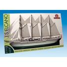 Maquette de bateau J.S Elcano 1/205
