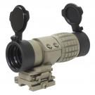 Magnifier X3 avec protections et fixation basculante
