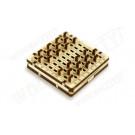 Puzzle mécanique bois Mini jeu de dames