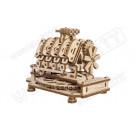 Puzzle mécanique bois Moteur V8
